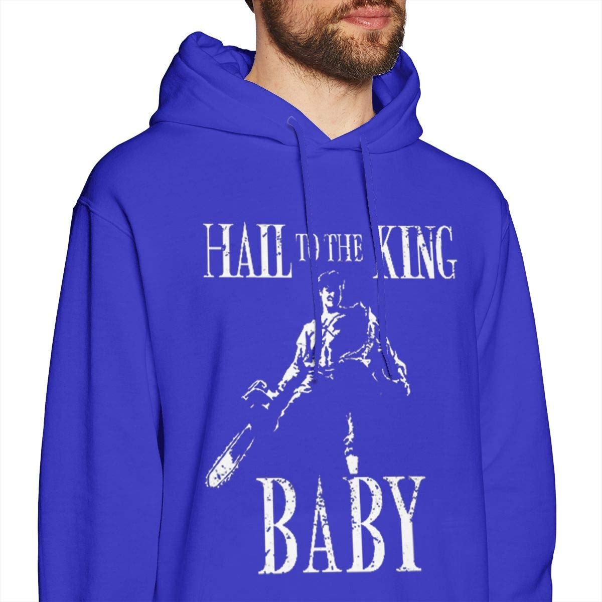 JiaoZhiduanxiu Mens Hail-to-The-King-Baby Leisure Blue Hoodie Sweatshirt Jacket Pullover Tops