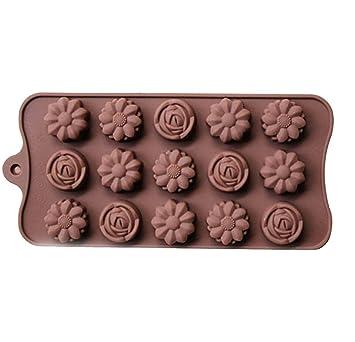 dingsheng molde de tarta de silicona chocolate moldes flores forma Candy Jelly bandeja de hielo moldes