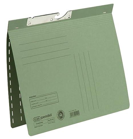 Elba 100560095 transparentes de pizarra, estante, Colgantes, accesorios – Archivador colgante (verde