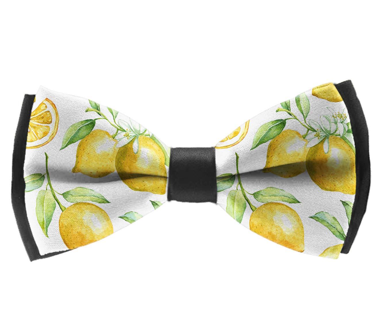 INWANZI Mens Classic Pre-Tied Adjustable Length Bowtie Lemon Party Bow Tie