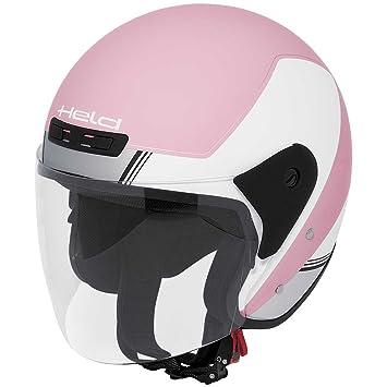Motocicleta Held 7070 Heros casco demi-jet – blanco rosa Reino Unido Vendedor