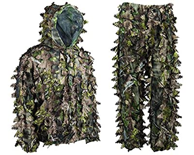 Ambush HD Camouflage Leafy Ghillie Hunting Suit Jacket Pants Green