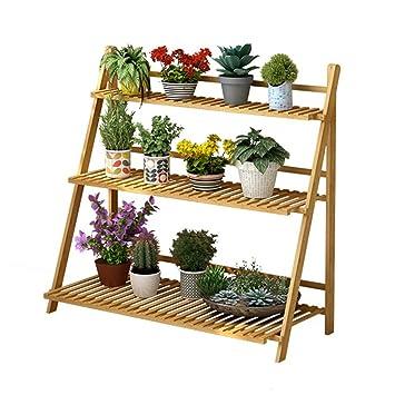 3 niveaux étagère fleur étagères pliable étagère en bois étagères ...