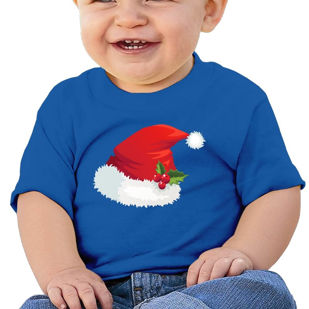 FFWWLHR Santa Hat Baby Short Sleeve Tees Unisex Graphic Merry Christmas Cotton Baby Toddler Short Sleeve Tees
