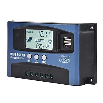 10-100A MPPT Solar Panel Regulator Charge Controller Auto Focus Tracking 12V//24V
