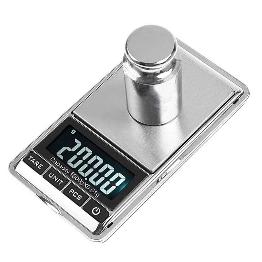 Morza Balance de la Escala 1000g 0.1g LCD Mini joyer/ía electr/ónica Digital B/áscula de Cocina de Bolsillo de precisi/ón