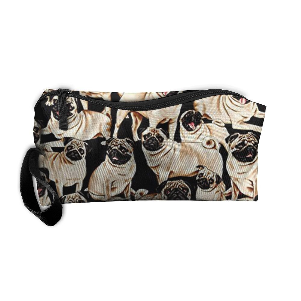 Pugs Makeup Organizer Bag Shaving Kit Toiletry Bag For Travel Accessories, Shampoo, Cosmetic, Personal Items BCCHUUU