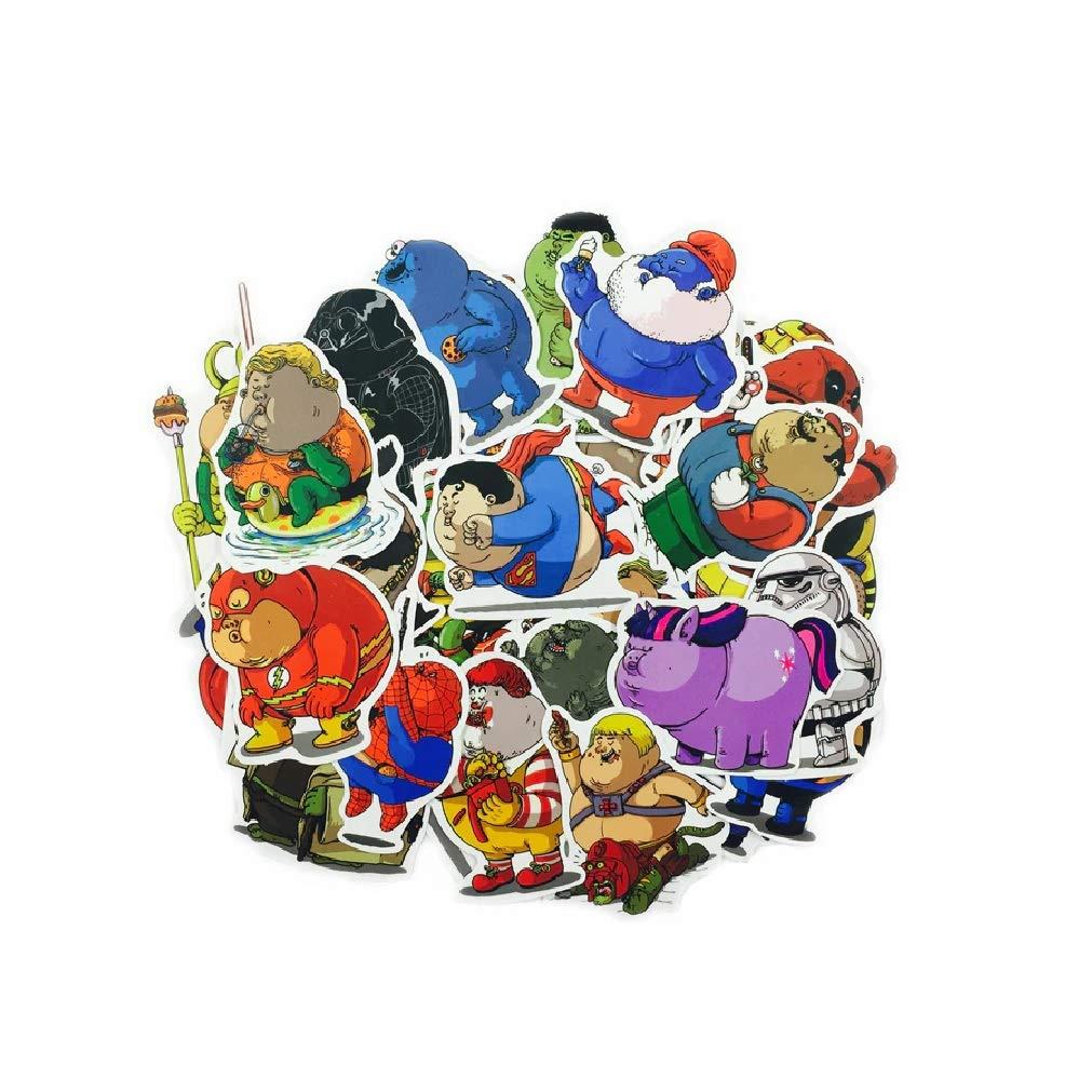 ⭐top adesivi ! ⭐ lotto di 32 adesivi supereroi obesi: amazon.it