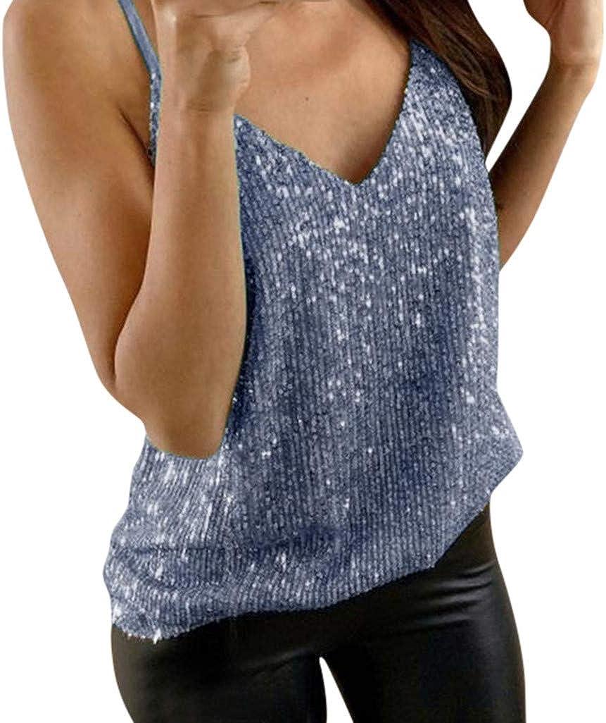 Womens Shiny Short Sleeve T-Shirt Casual Loose Blouse Tee Tops Summer Clubwear
