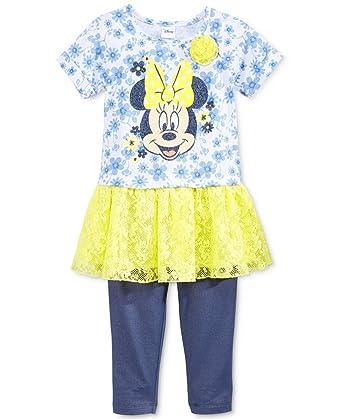 22ff86157 Disney Minnie Mouse Little Girls 2-Pc. Minnie Tunic & Leggings Set (4