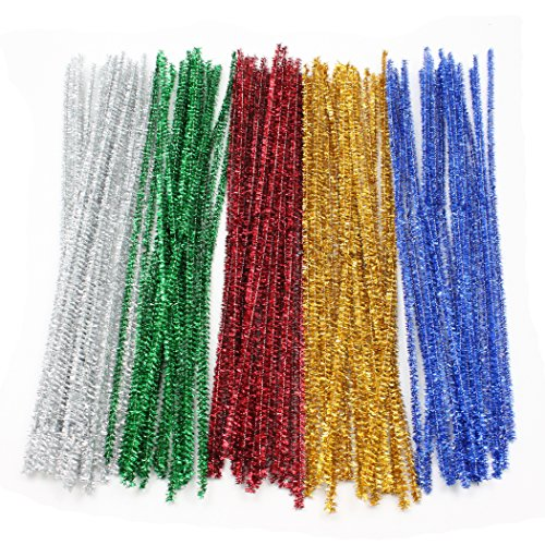 Creativity Street Jumbo Chenille Stems Classroom Pack, 1,000-Count, Assorted Colors (Street Cleaner)
