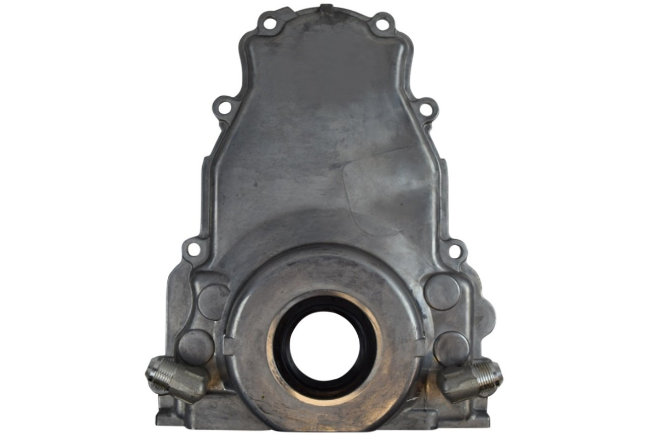 LS Gen 3 Turbo Oil Drain Return - Front Timing Chain Cover -10AN, 551589