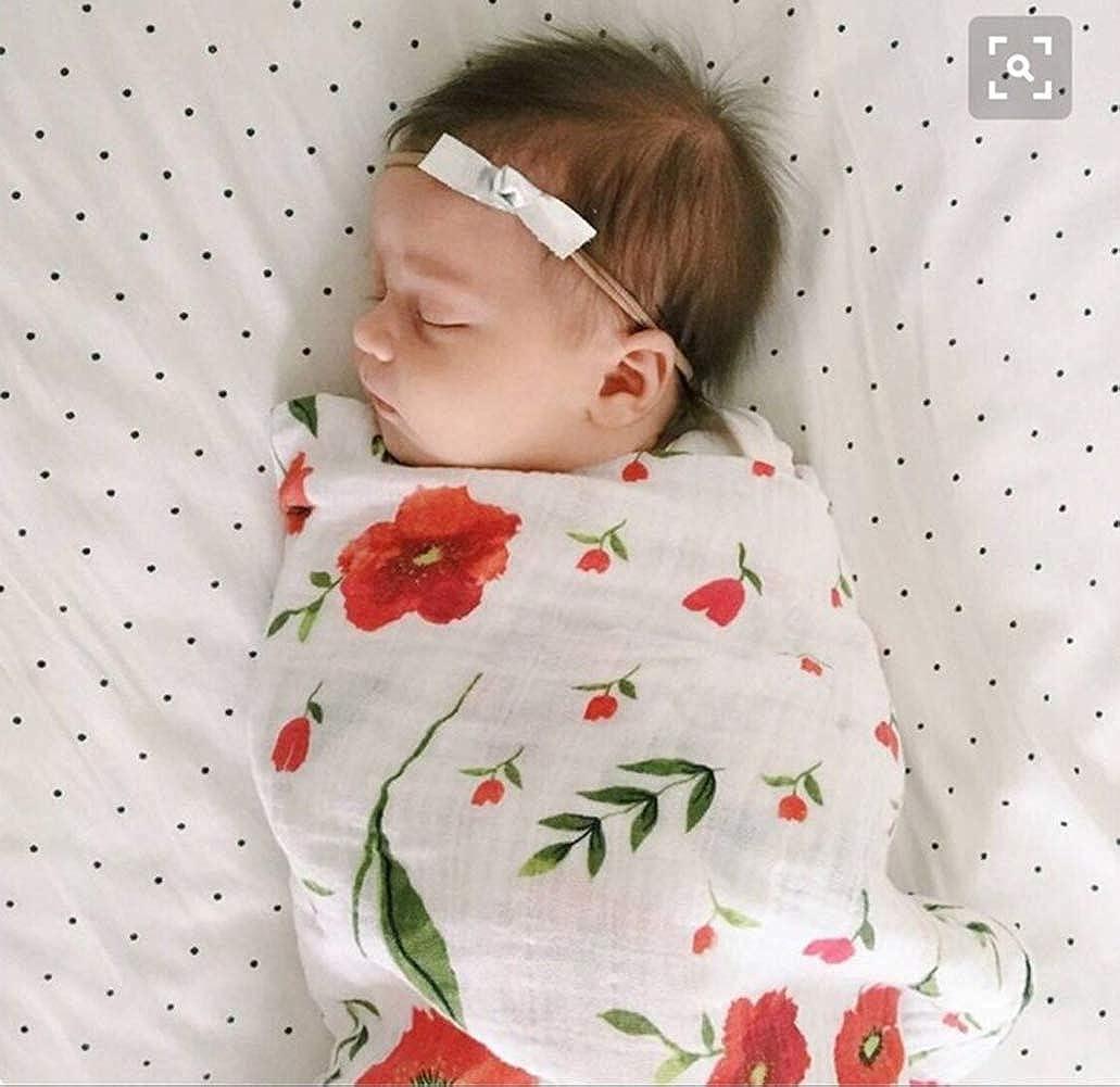Baby LOPJGH Newborn Baby Receiving Blanket Headband Set Flower ...