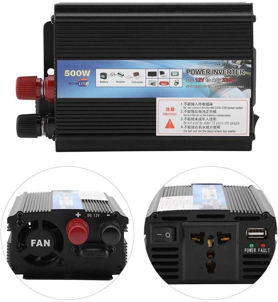 12V to 110v//500W FTVOGUE Inverter da 12v a 220v 100V 500W con Pannello Solare per Uso Domestico