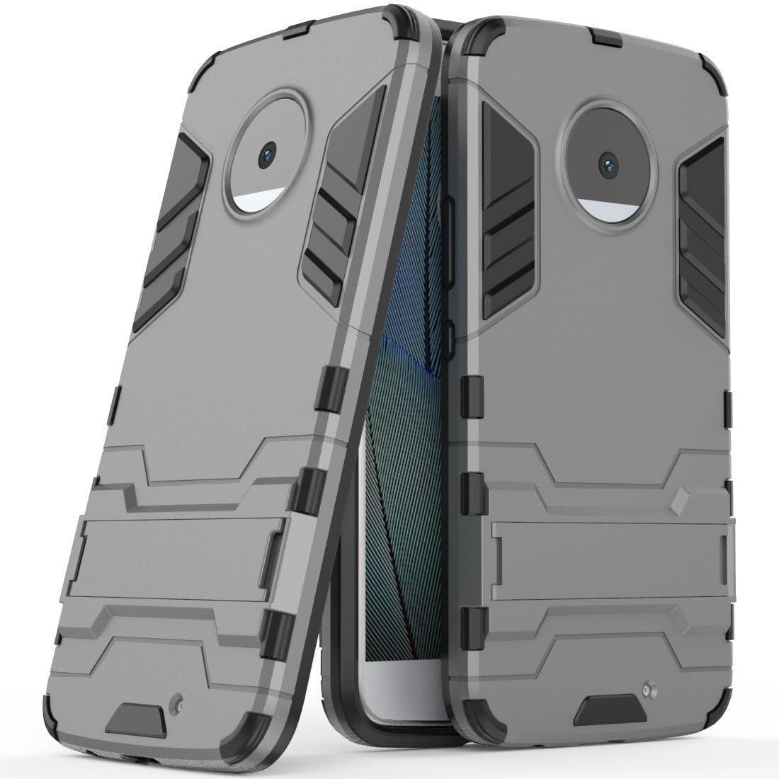 Funda para Motorola Moto X4 (5,2 Pulgadas) 2 en 1 Híbrida Rugged Armor Case Choque Absorción Protección Dual Layer Bumper Carcasa con Pata de Cabra (Gris): Amazon.es: Hogar