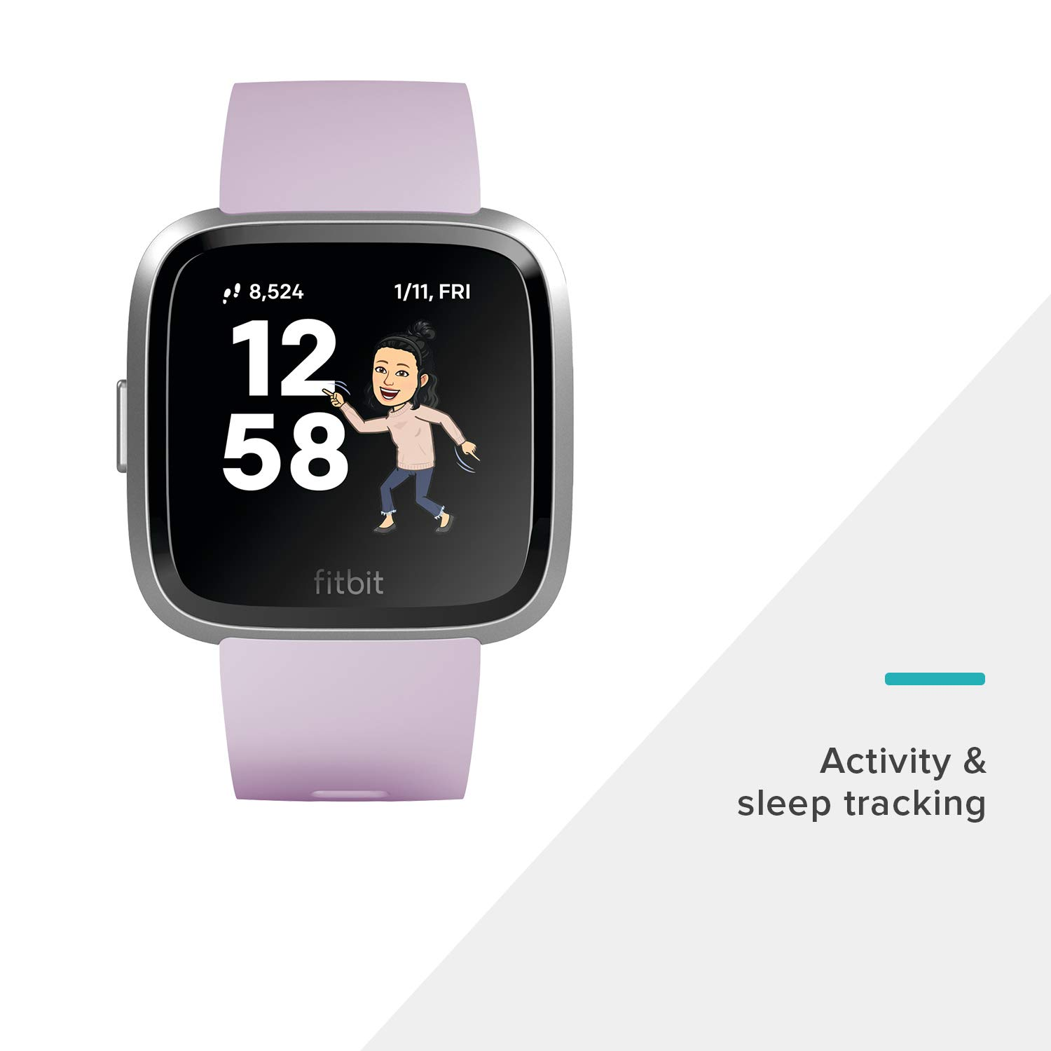 Fitbit Versa Lite Edition Smart Watch, 1 Count (S & L bands included) by Fitbit (Image #4)