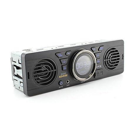 Boomboost AV252 12V Car tarjeta SD radio de coche Stereo autoradio MP3 Altavoces incorporados Con altavoces