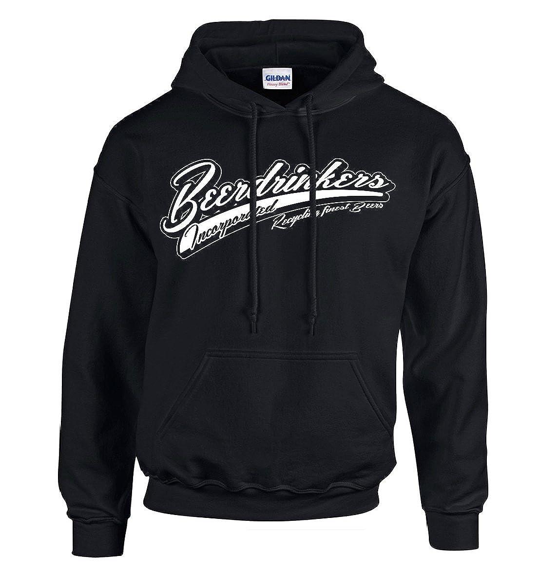 Beerdrinkers Inc. Bier Hoodie Kapuzenpullover Schwarz S, M, L, XL, XXL & XXXL