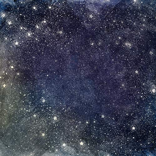 Glitter Star Gorgeous Night Sky Starry Background Flashing Stars Space Photography Backdrop 6x6FT