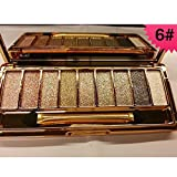 Best Derma E Argan Oils - 9 colors Diamond Bright Colorful Makeup Eyeshadow super Review