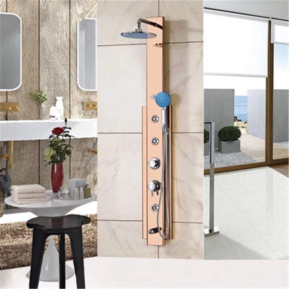 CRZJ Panel de Ducha termostatico Multifuncional Pantalla Digital ...