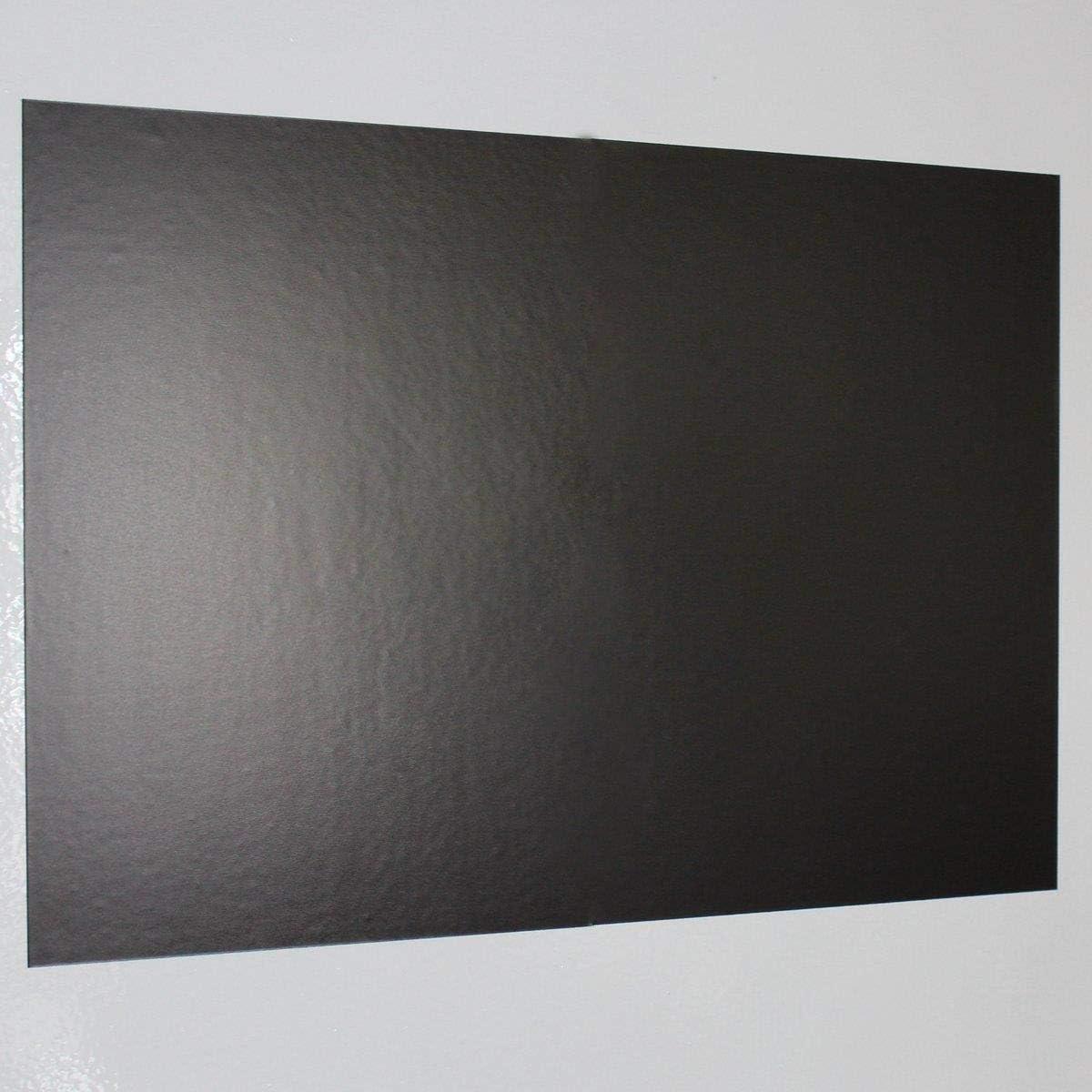 Pantalla magnética autoadhesiva de Magstick®, 1unidadTamaño DIN A3, lado adherente sin revestimiento, superficie adherente flexible para imanes potentes, pantalla ferrosa