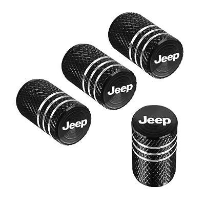 QINGTECH 4pcs for Jeep Valve Stem Caps,Tire Caps for Car,Motorbike,Trucks,Bike and Bicycle Aluminum: Automotive