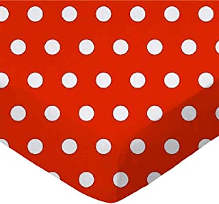 product image for SheetWorld Fitted Portable / Mini Crib Sheet - Polka Dots Red - Made In USA