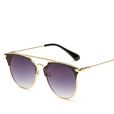 a07aae7391 Image Unavailable. Image not available for. Color  Luxury Vintage Round  Designer Cat Eye Sunglasses ...