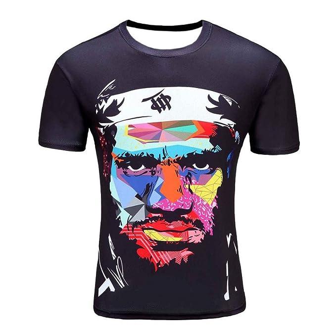 Mens 3D Humo Colorido Fumar Impreso Camisetas Homme Tees Tops Venta por Mayor D01 M