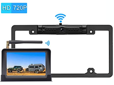 iStrong HD 720P Digital Wireless Backup Camera System Kit For  Pickups,Trucks,Motorhomes,Campers,RVs 5'' Monitor Rear/Front View  Reverse/Continuous Use