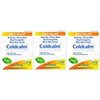 Boiron Coldcalm, 60 Tablets, Homeopathic Medicine for Cold Relief - Pack of 3