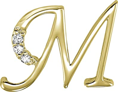 Buy Kiara Women's Silver 'M' Alphabet Design American