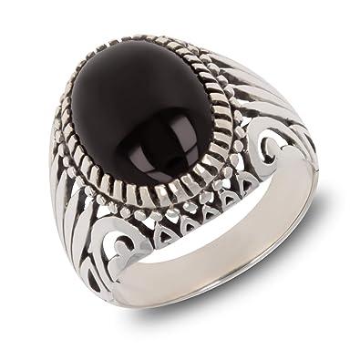 4e0854c66e8 Aden s Jewels - Bague créateur pour Homme Faite à la Main-Pierre d onyx