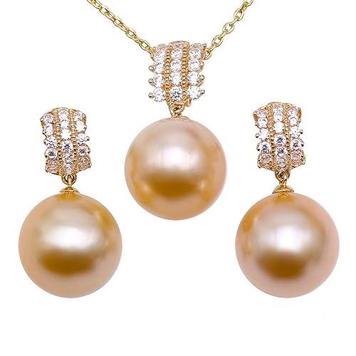 e7e95a234931 JYX Juego de joyas de perlas - 11