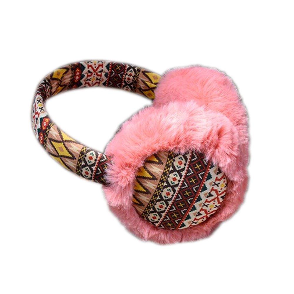 Fur Lovely Ear Warmer Winter Ear Protector Bohemia Style Earmuffs PINK