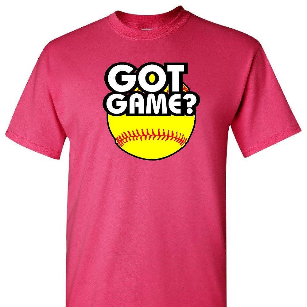 Got Game – ソフトボールon aピンクTシャツ B01BRVHKFS Small