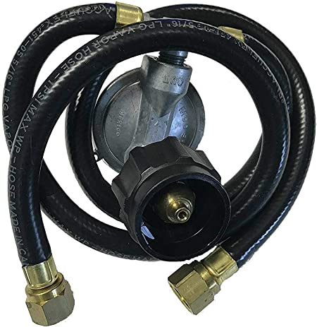 "Grill Master Flame Gas Grill  21/"" Dual LP Propane Regulator /& Two Hoses QCC1 New"