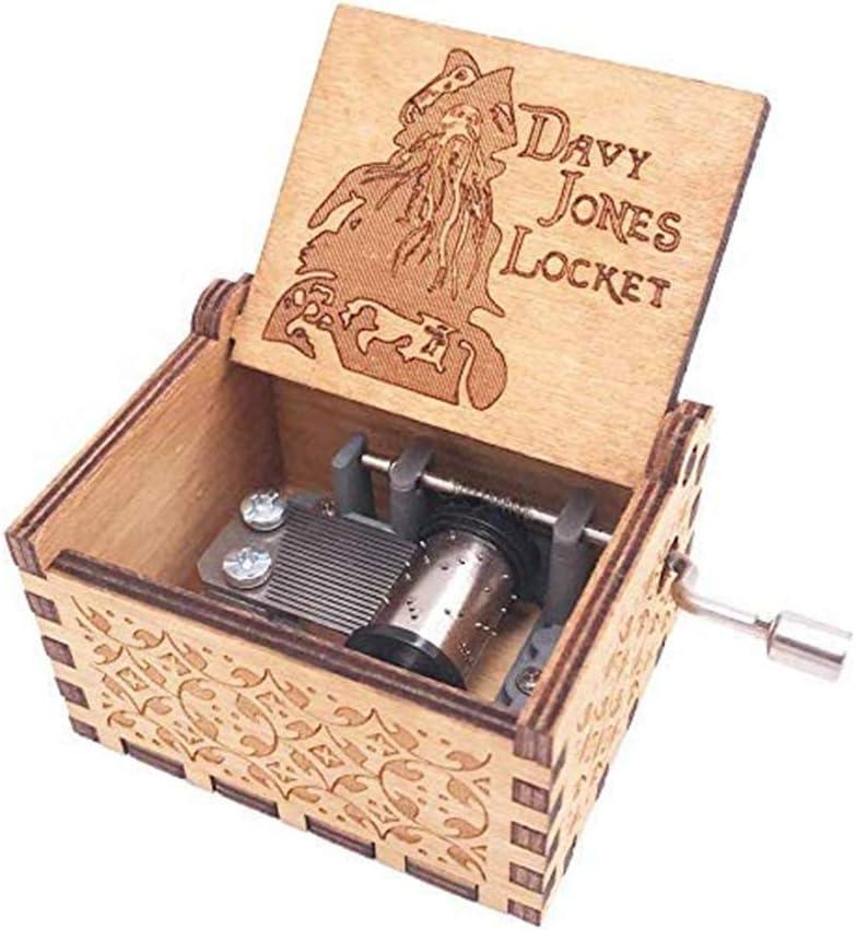 WLXW Cajas De Música De Madera Tema Davy Jones Locket, Manivela ...