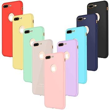 b70d0ce7f0d Leathlux 9X Funda iPhone 7 Plus, Carcasa Ultra Fina Silicona TPU Protector  Flexible Cover para