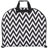 Ever Moda Black Chevron 40-inch Hanging Gament Bag [Apparel]