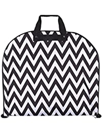 Ever Moda Black Chevron 40-inch Hanging Gament Bag [Apparel]