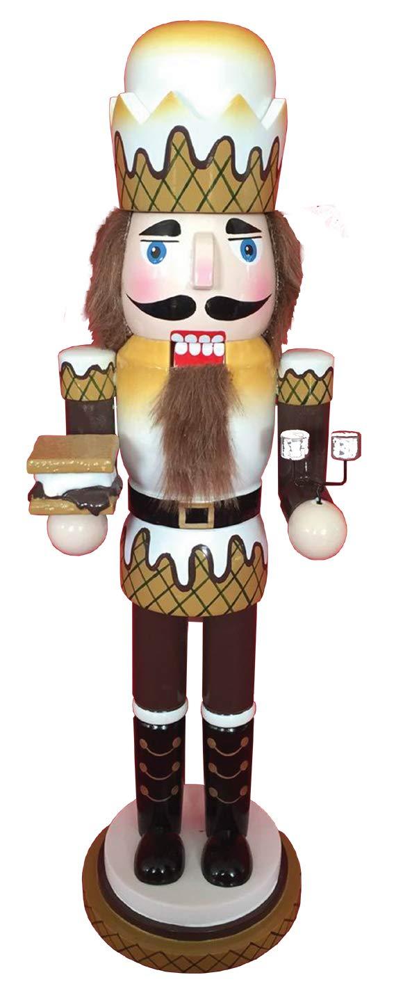 Santas Workshop Graham Crackers,Smores Nutcracker 14 Tall Tan//Brown//White Smores Nutcracker 14 Tall Tan//Brown//White Santa/'s Workshop 70100