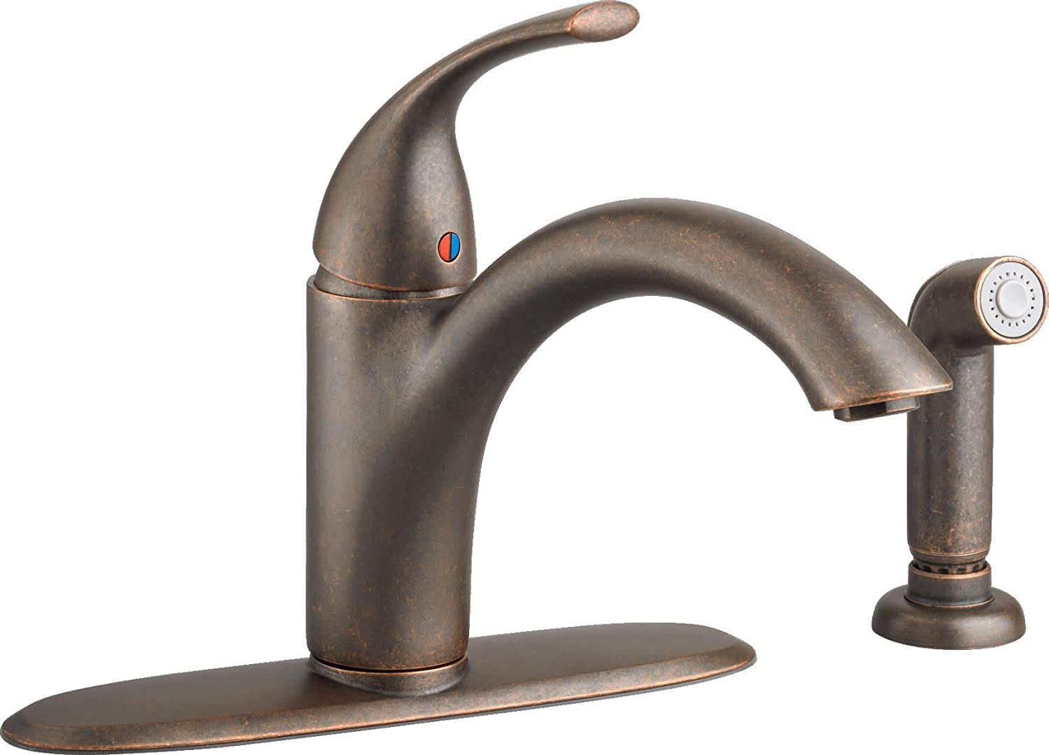 American Standard Quince Single-Handle Standard Kitchen Faucet with Side Sprayer in Oil Rubbed Bronze