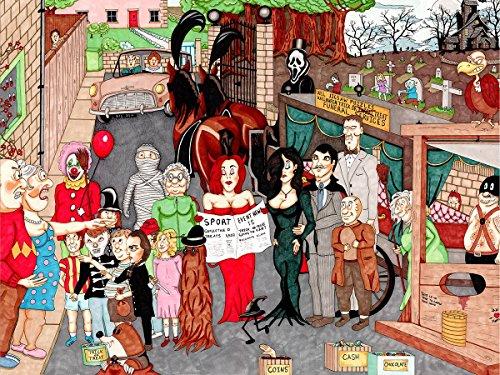 Halloween - Ambler 2017 Cartoon Collection - 1000 Piece Jigsaw Puzzle]()