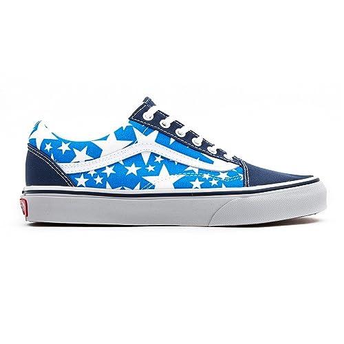 9638e0e4a1a42a Vans Old Skool Shoes Stars Dress Blues True White  Amazon.co.uk  Shoes    Bags