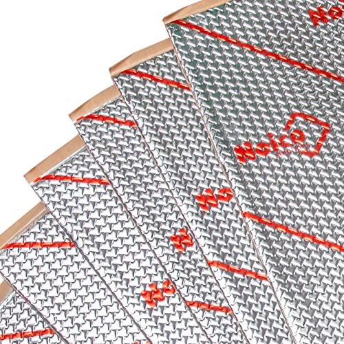 Noico 50 mil 50 sqft car Sound deadening mat, Butyl Automotive Sound Deadener, Audio Noise Insulation and dampening (50 mil 50 sqft) -
