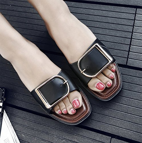 Resistant and Cool Fashion Slippers Slippers Wear Flat Ladies Bottom A Simplicity weiwei Summer qnCSwvwZ