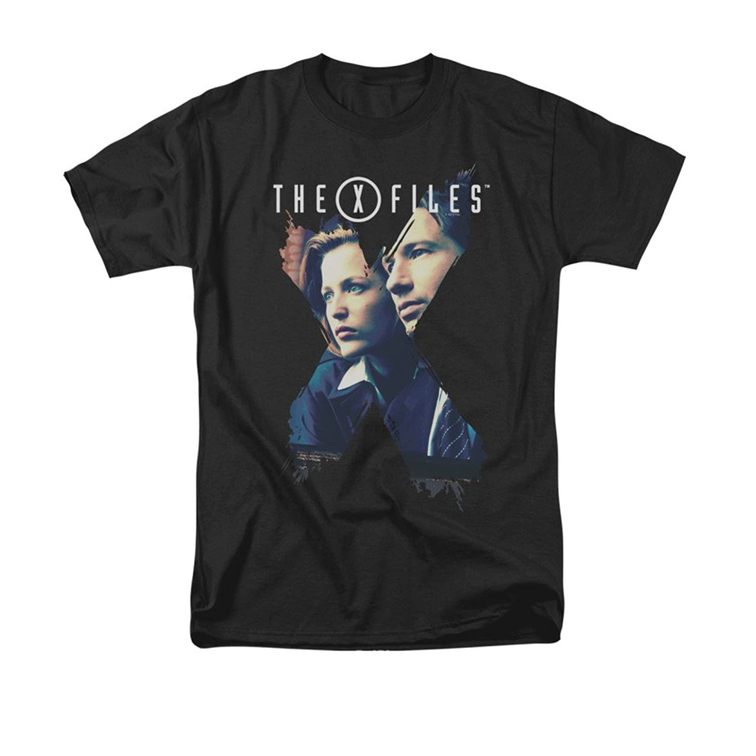 X-Files Horror Sci-Fi Thriller TV Series Mulder&Scully X Agents Adult T-Shirt