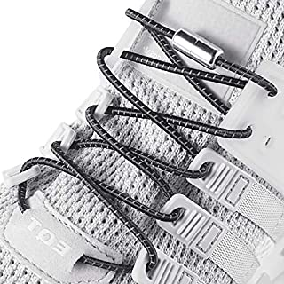 2 Pairs No Tie Elastic Shoelaces fit Adults and Kids,Shoelaces Replacement No Tie,Shoelaces for Sneaker No Tie
